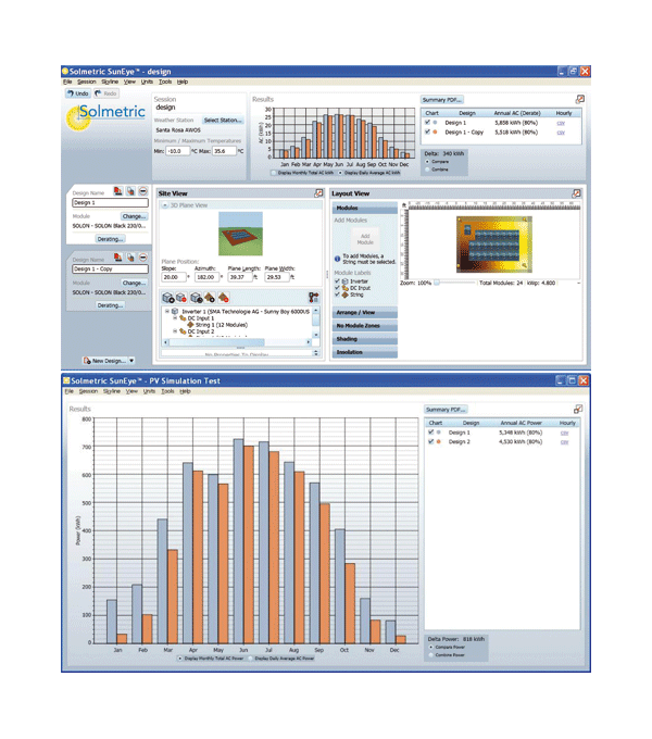 solmetric pv designer si clean energy solar